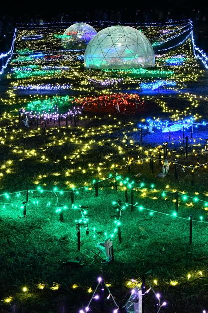 昭和記念公園イルミネーション 宇宙の風景を思わせる(2) 20171223