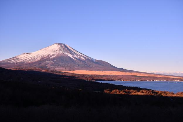 パノラマ展望台から綺麗な澄んだ空気の中 富士山 20180102