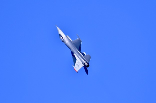 撮って出し。。岩国からリモートでF-16デモチーム飛来 2月17日
