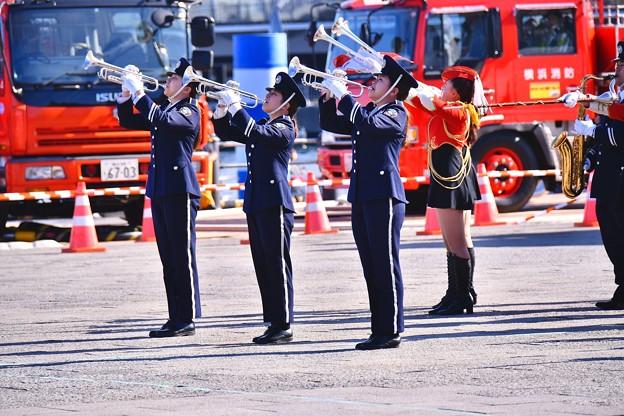 横浜消防出初式。。消防音楽隊格好良く演奏