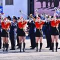 Photos: 横浜消防出初式。。消防音楽隊ドリル演技 格好いいお姉さんたち
