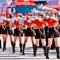 Photos: 横浜消防出初式。。音楽隊ドリル演技さまになって格好いいお姉さんたち