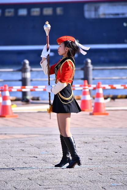 横浜消防出初式。。消防音楽隊指揮取る。。