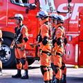 横浜消防出初式。。スーパーレンジャー機敏に集合して状況報告 20180107