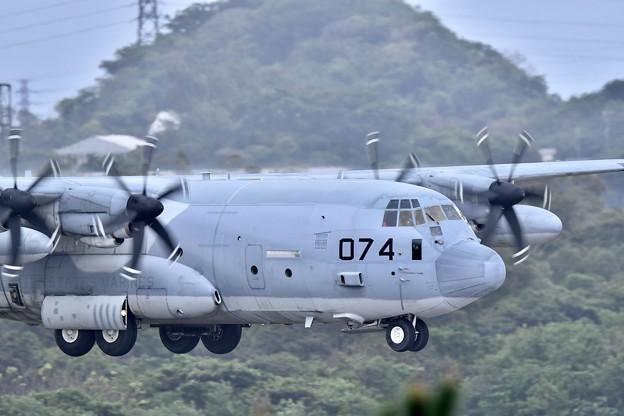 岩国から米海兵隊KC-130飛来 20180108