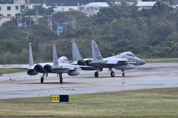 突然のランチェンにもすぐ対応嘉手納のZZ F-15 1 月8日