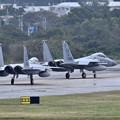 Photos: 突然のランチェンにもすぐ対応嘉手納のZZ F-15 1 月8日