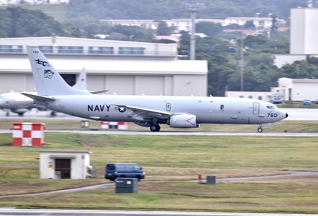 1機目の色付きLCの米海軍P-8Aポセイドン上がり 20180108