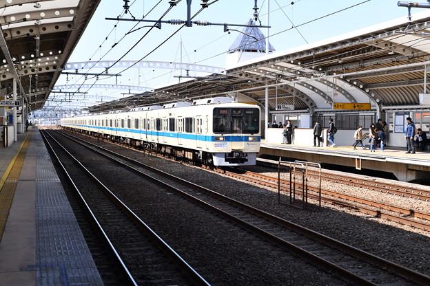 撮って出し。。小田急線複々線化完了撮影しやすく 喜多見駅 3月4日