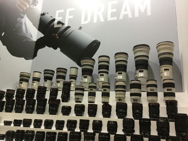 撮って出し。。CP+Canonブース 白レンズ軍団 3月4日