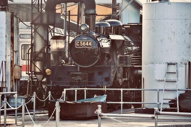 久しぶりのC5644 SL 運転準備中。。大井川鐵道 20180120