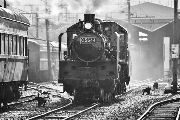 大井川鐵道。。SL モノクロの風景が似合う C5644
