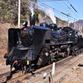 写真: 次の下りの準備でバック走行するSL C5644