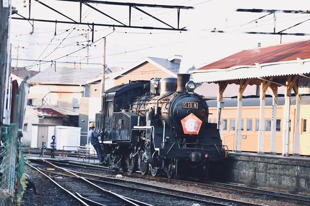 大井川鉄道新金谷駅。。夕暮れのSL転車作業風景(1) 20180120