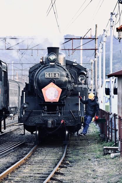 大井川鉄道新金谷駅。。夕暮れのSL転車作業風景(4) 20180120