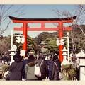 鎌倉散歩。。参道歩いて。。20180127