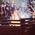 鎌倉鶴岡八幡宮。。お祓いの火。。20180127
