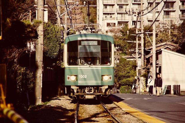 鎌倉散策。。稲村ヶ崎へ向かう江ノ電 20180127