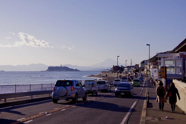 鎌倉散策。。稲村ヶ崎の沿道沿いを。。20180127