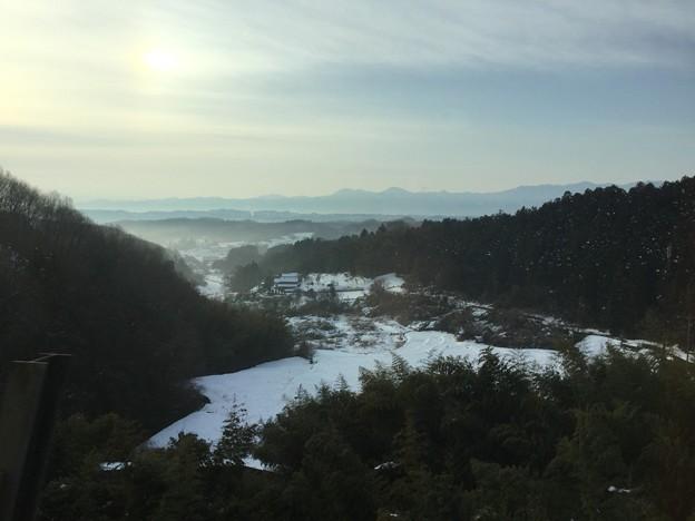 北陸新幹線からの長野の雪景色。。20180203