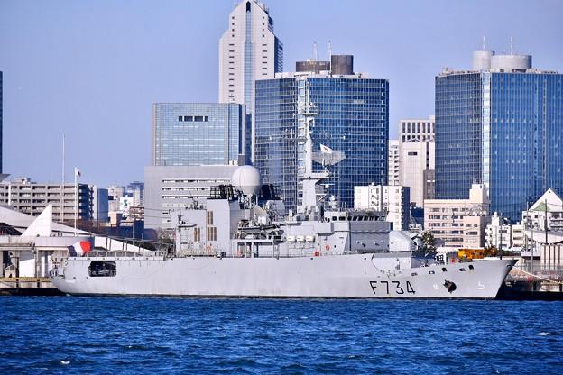 晴海埠頭にフランス海軍フリーゲート艦ヴァンデミエール 20180212