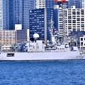 晴海埠頭から出航へ。。フランス海軍フリーゲート艦ヴァンデミエール 20180212