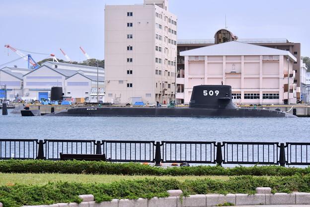 Photos: 撮って出し。。横須賀基地来たばかりのSS-509 せいりゅう