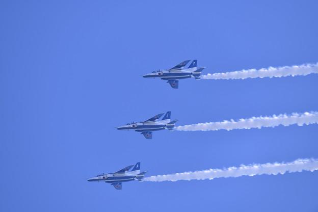 芦屋基地航空祭予行練習ブルーインパルスラインアブレストロール 20180217