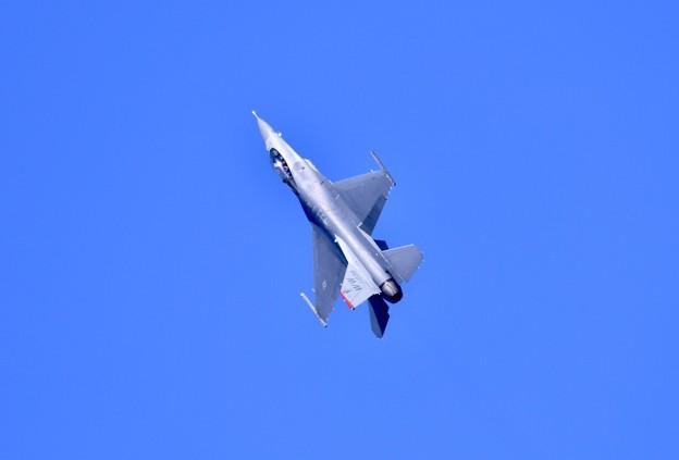 芦屋基地航空祭予行練習。。F-16デモチーム アクロバット飛行(1)