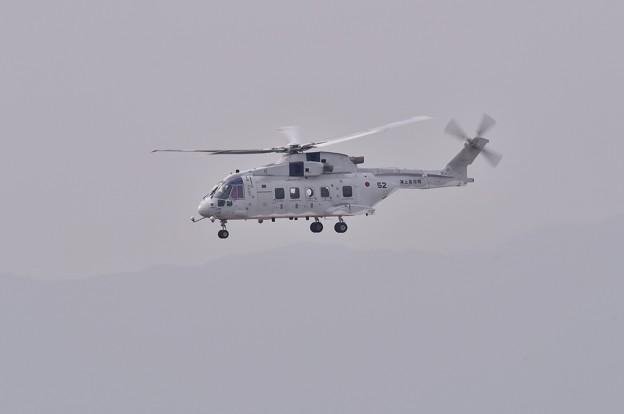 写真: 岩国基地。。海上自衛隊は訓練 CH-101ヘリコプター 20180219
