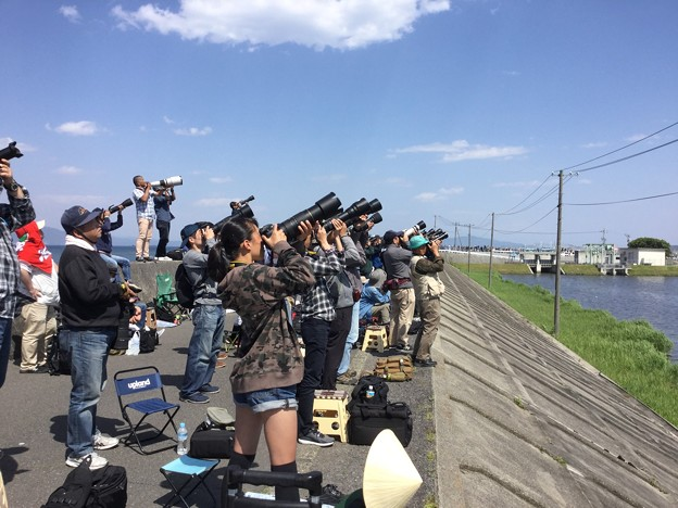 撮って出し。。GW 岩国基地フレンドシップデー予行練習 女の子もフルサイズ機で狙う