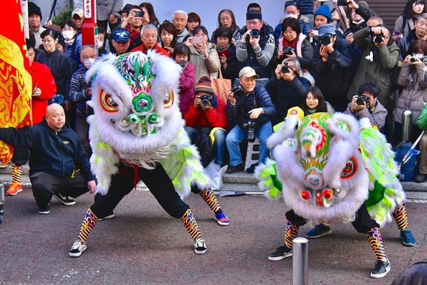 横浜中華街春節 祝舞遊行 縁起いい中国獅子舞 (3) 20180224