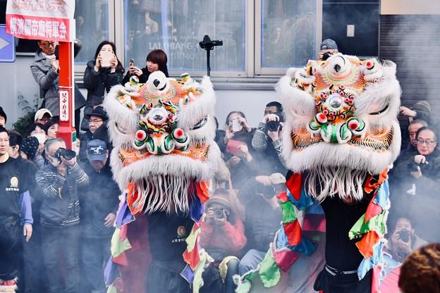 横浜中華街春節 祝舞遊行 縁起いい中国獅子舞 (5) 20180224