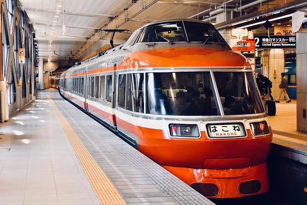 小田急新宿駅ロマンスカーホーム いつまで見れるかLSE 20180303