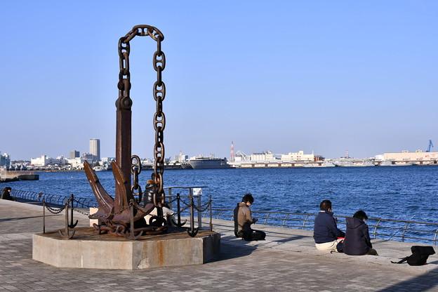 港横浜を見渡せる公園。。臨港パーク 20180304