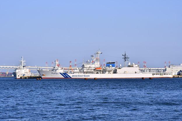 休日の海上保安庁横浜基地。。夕暮れの風景 20180304