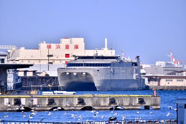 米軍施設横浜ノースドック瑞穂埠頭 高速輸送艦グアム(1) 20180304