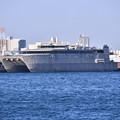 写真: 米軍施設横浜ノースドック瑞穂埠頭 高速輸送艦グアム(3) 20180304