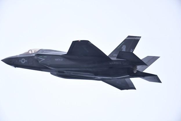 写真: 岩国基地から飛び立ったVMFA122グリーンナイツ F35Bライトニング(3)。。 20180321