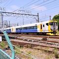 写真: 撮って出し。。千葉の房総特急E257系横浜貨物路線高島線を走る 5月27日