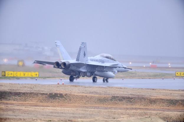 雨降りの岩国基地。。この日来日して初飛びの米海兵隊VMFA533ホークス(5)20180321