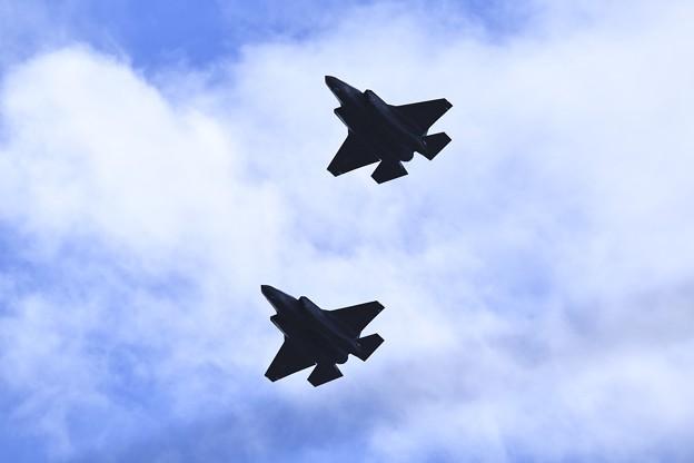 岩国基地。。ステルス戦闘機F35B オーバーヘッドアプローチへ 20180322
