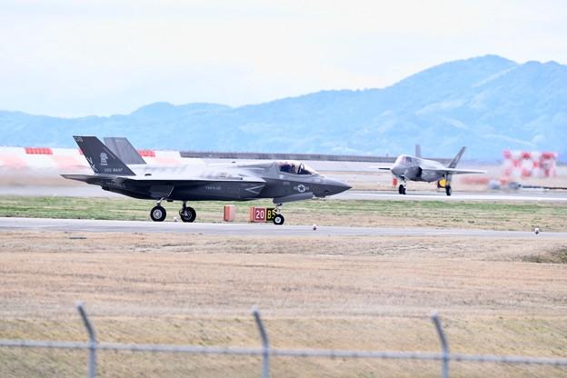 岩国基地。。2機のF35B 無事帰還 20180322