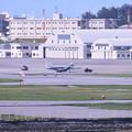 写真: 撮って出し。。瀬長島から那覇基地のイーグルトーイング 6月17日