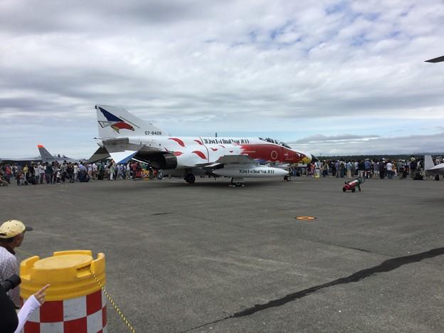 写真: 撮って出し。。これが見たかった百里のラストファントム白のスペマ機 7月22日