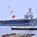 Photos: 撮って出し。。米海軍横須賀基地 空母見学へ 8月4日