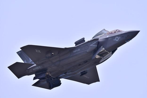 米海兵隊ステルス戦闘機F35B デモ飛行(4) 20180505