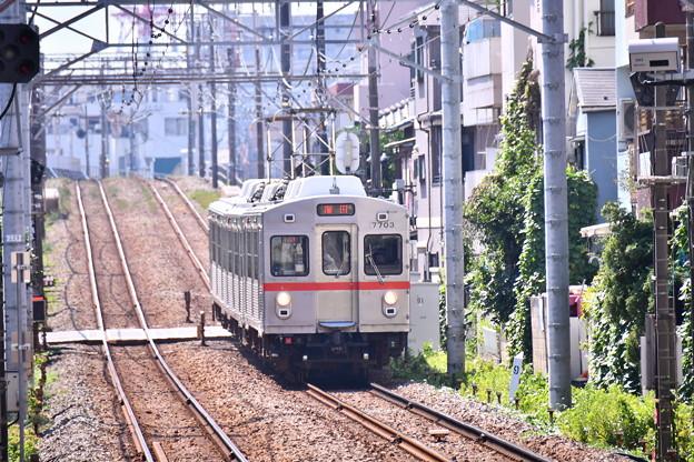 撮って出し。。たまには撮り鉄 東京で3両の東急池上線 引退間近の7700系 20180827