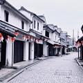 Photos: まだ誰も居ない朝の白い壁の町並み 柳井市(1) 20180506