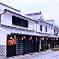 Photos: まだ誰も居ない朝の白い壁の町並み 柳井市(4) 20180506
